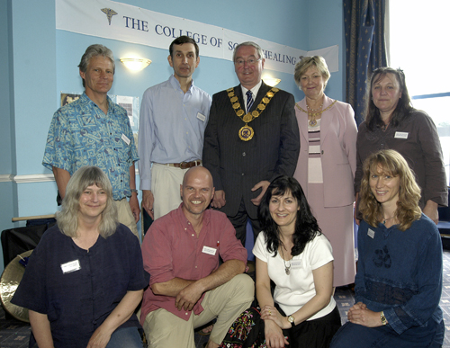 College members meet the mayor of Shrewsbury at a healing day